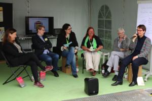 v.l. Frau Dr. Janssen, Frau Hallay-Witte, Frau Rupp, Frau Buschmann, Erika Kerstner, Frau Prof. Dr. Keul